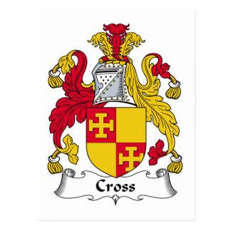 Cross Family Crest Post Card