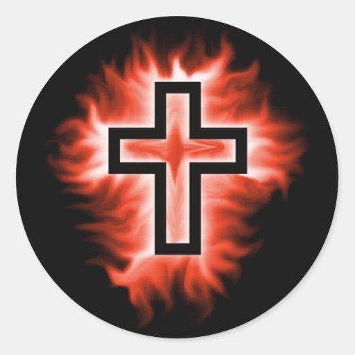 Cross Fire Classic Round Sticker