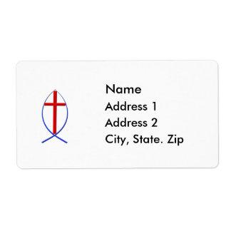 Cross Fish Mailing Label