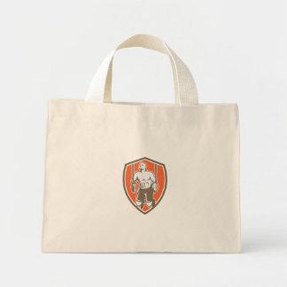 Cross-fit Ring Dip Shield Retro Mini Tote Bag