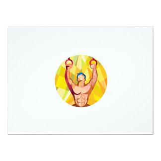 Cross-fit Training Weights Ring Circle Low Polygon 6.5x8.75 Paper Invitation Card