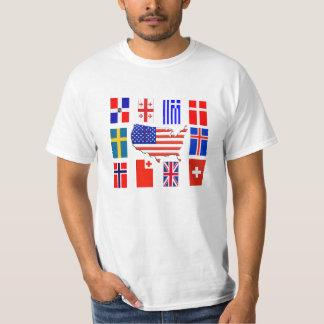 CROSS FLAGS AROUND THE WORLD T-Shirt