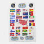 Cross Flags of the World kitchen towel