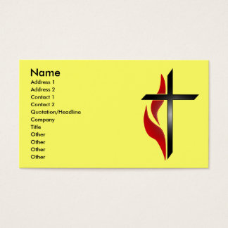 CROSS & FLAME BUSINESS CARDS
