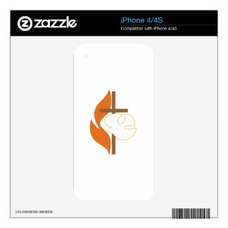 Cross Flame & Dove iPhone 4 Decal