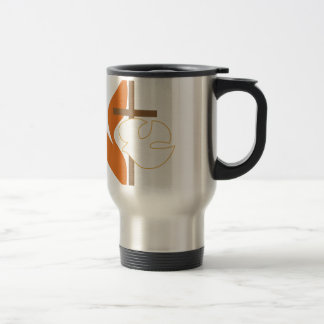 Cross Flame & Dove Travel Mug