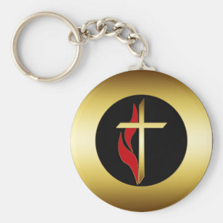 CROSS & FLAME KEY CHAIN