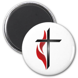CROSS & FLAME MAGNET