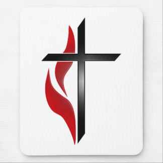 CROSS & FLAME MOUSE PAD