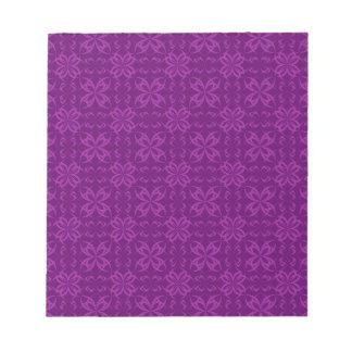 Cross flowers seamless pattern scratch pad