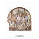 Cross Fragment By Jacopo Pontormo Post Cards