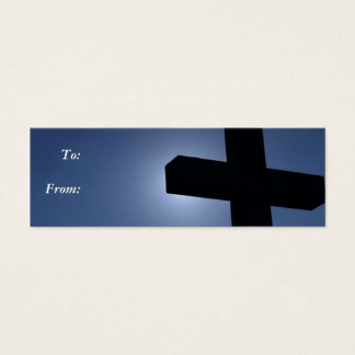 Cross Gift Tag Business Card