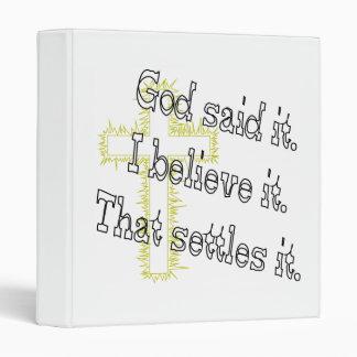 Cross God Said Binder