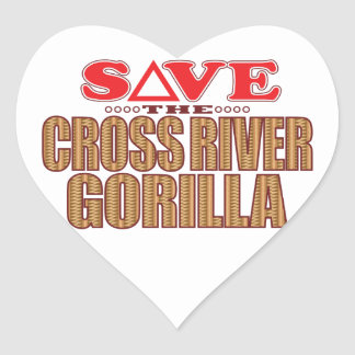 Cross Gorilla Save Heart Sticker