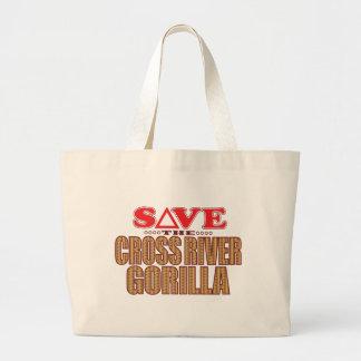 Cross Gorilla Save Large Tote Bag