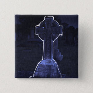Cross Gravestone Button