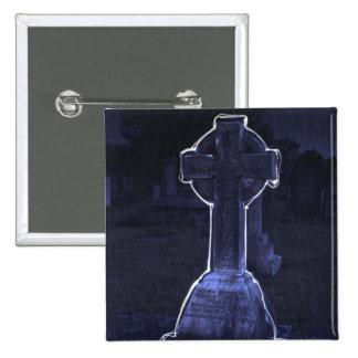 Cross Gravestone Button