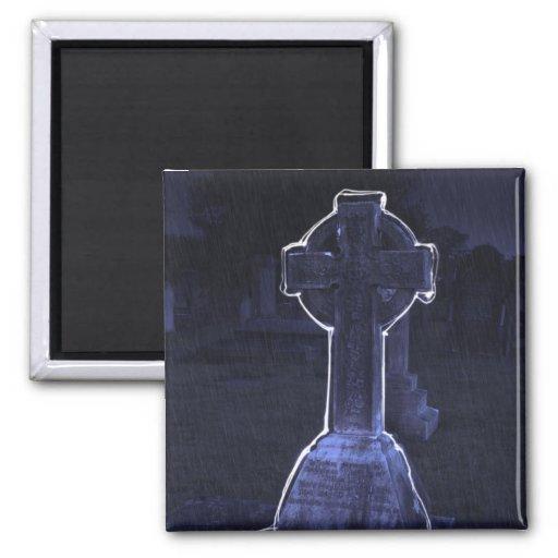 Cross Gravestone Magnet