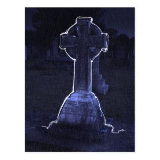 Cross Gravestone Postcard