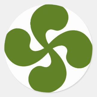 Cross Green Basque Classic Round Sticker
