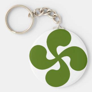Cross Green Basque Keychain