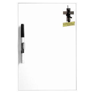 Cross & Gun Dry Erase Whiteboards