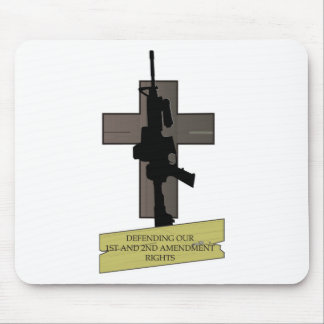 Cross & Gun Mouse Pad