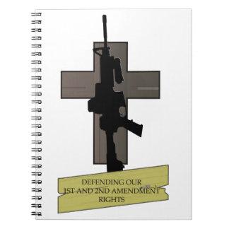 Cross & Gun Notebook