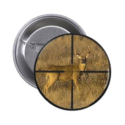 CROSS HAIRS. 2 INCH ROUND BUTTON