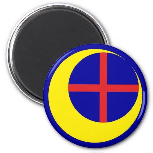 Cross half-moon CROSS crescent Magnet