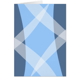 Cross Hatch Blue Card