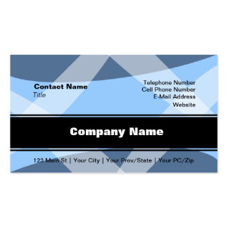Cross Hatch Blue Double-Sided Standard Business Cards (Pack Of 100)
