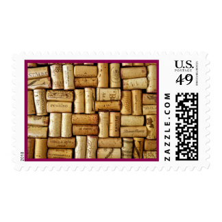 Cross hatch corks stamp