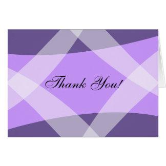 Cross Hatch Violet Card