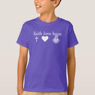 CROSS HEART ANCHOR - faith love hope T-Shirt