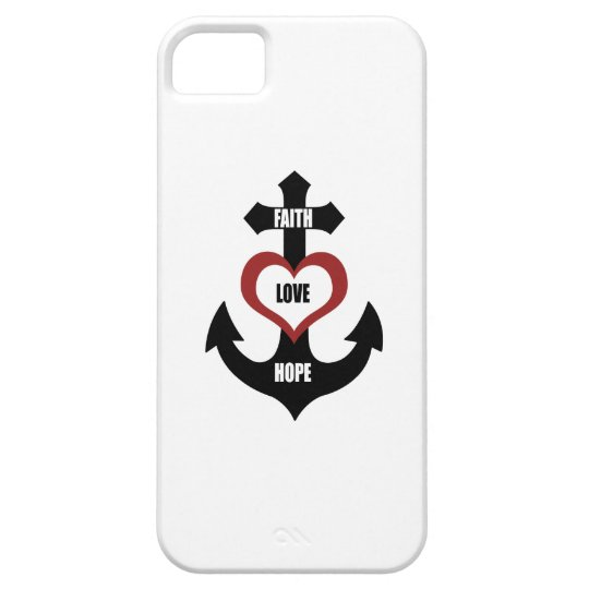 Cross Heart Anchor iPhone5 iPhone SE/5/5s Case