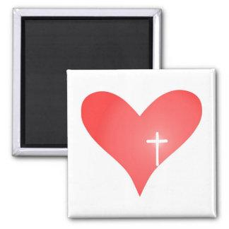Cross/Heart Magnet