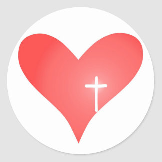 Cross/Heart Sticker