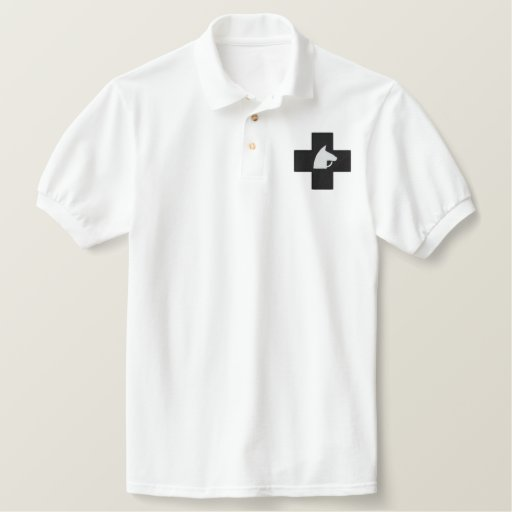 CROSS HORSE EMBROIDERED POLO SHIRT