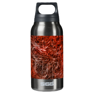 Cross in a burst of red insulated water bottle