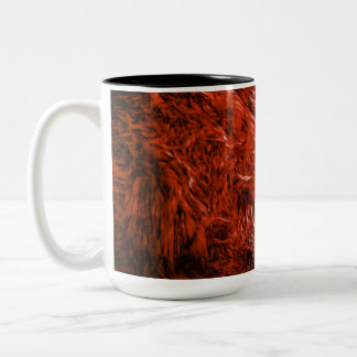 Cross in a burst of red Two-Tone coffee mug