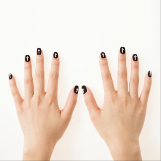 Cross in Black and White Minx Nails Minx ® Nail Wraps