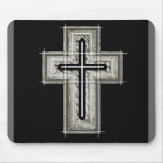 Cross in black and white. mouse pad