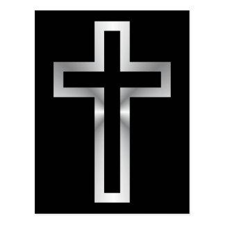 Cross in Black Blue Gold or Silver Postcard