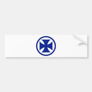 Cross in Circle blue Car Bumper Sticker