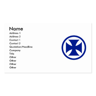 Cross in Circle blue Double-Sided Standard Business Cards (Pack Of 100)