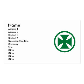 Cross in Circle green Double-Sided Standard Business Cards (Pack Of 100)