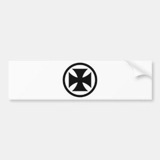 Cross in Circle monochrome Car Bumper Sticker