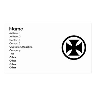 Cross in Circle monochrome Double-Sided Standard Business Cards (Pack Of 100)
