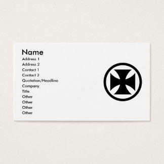 Cross in Circle monochrome Business Card